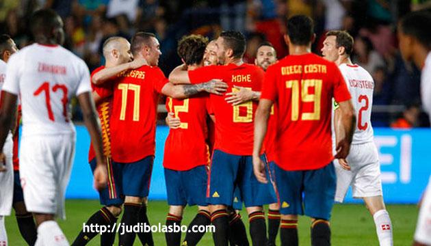 laga persahabatan spanyol imbangi swiss 1-1 - agen bola piala dunia 2018